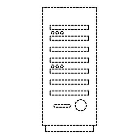 computer toren geïsoleerd pictogram vector illustratie ontwerp