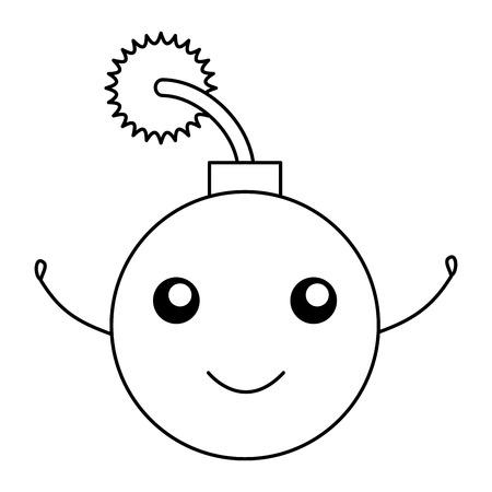 boom explosive character vector illustration design
