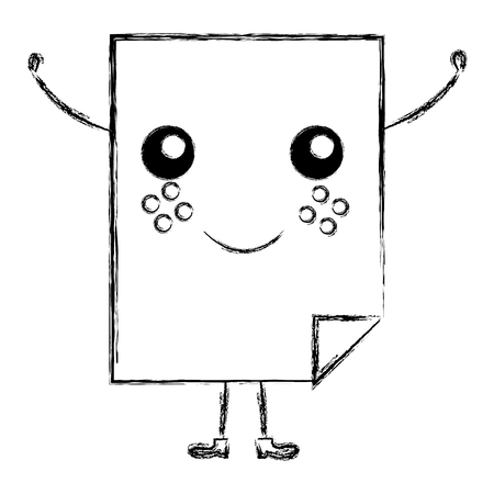 document paper character vector illustration design