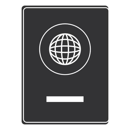 Pass-Dokument isoliert Symbol Vektor-Illustration Design Standard-Bild - 85730127