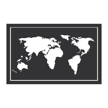 world paper map icon vector illustration design Stock Vector - 85730144