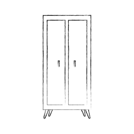 Wooden wardrobe illustration