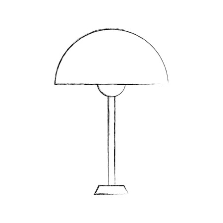 Lamp furniture illustration