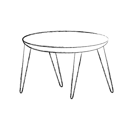 Wooden round table illustration