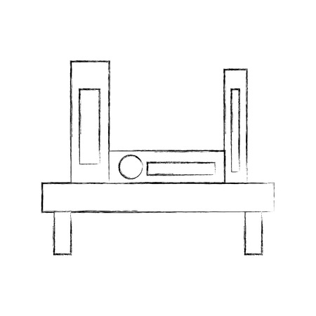 Wooden bookshelf folder illustration