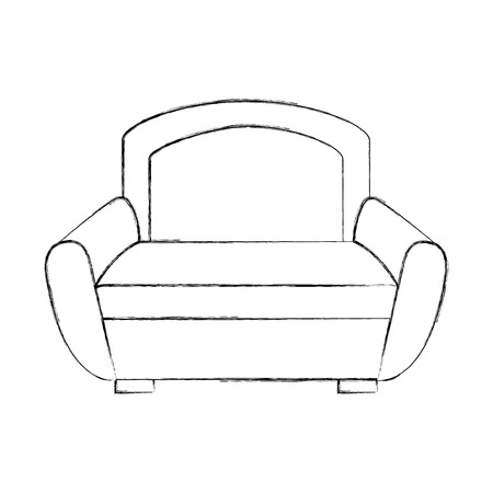 Sofa furniture illustration