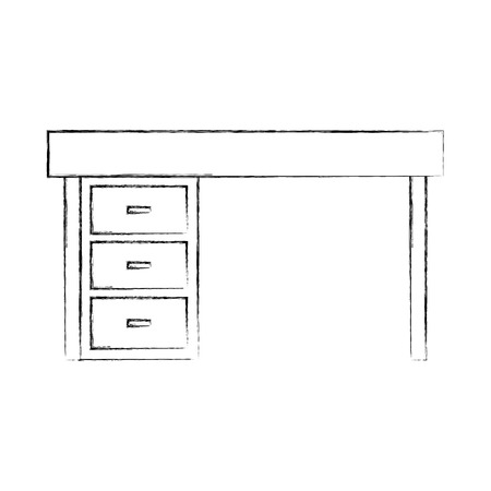 Furniture desk illustration
