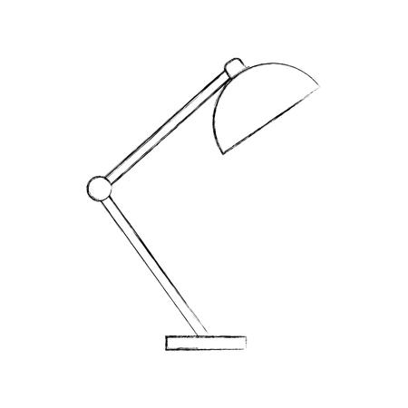 Desk lamp light furniture illustration Illustration