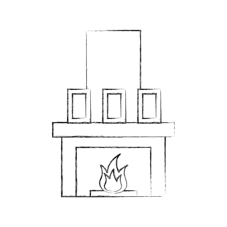 Fireplace chimney illustration