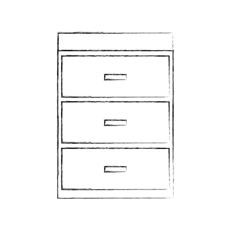 引き出しの木製チェスト家具素材モダンなスタイルのベクトルイラスト  イラスト・ベクター素材