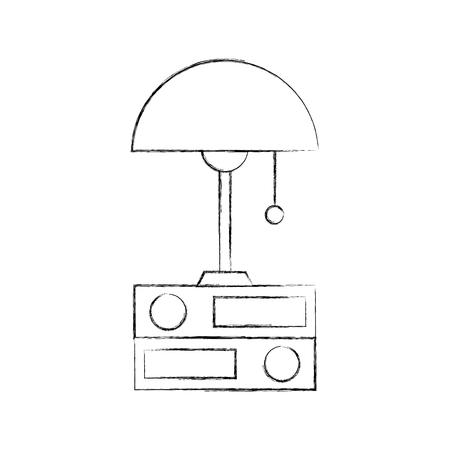 lamp and folder elements object decoration vector illustration Zdjęcie Seryjne - 85783225