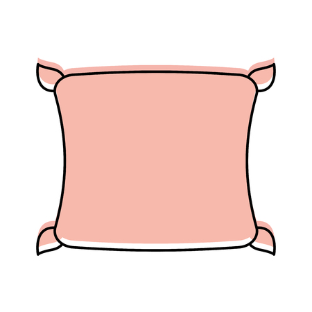 Cartoon illustration of  comfortable pillow cushion bedroom cloth.