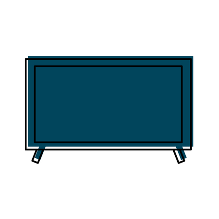 television electronic equipment technology device object vector illustration