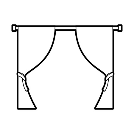 curtains the window decoration elegant vector illustration