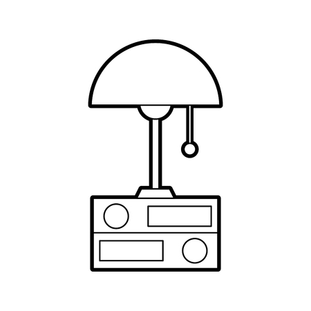 ランプとフォルダ要素オブジェクトの装飾ベクトルイラスト