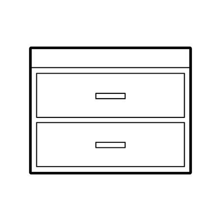Houten ladekast meubilair materiële moderne stijl vectorillustratie Stockfoto - 85783278