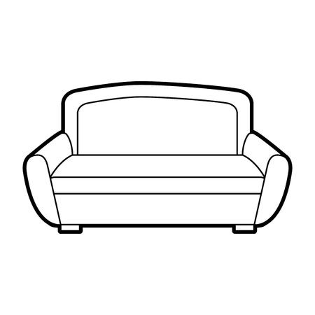 ソファーの家具の家の装飾の慰め要素のベクトルイラスト