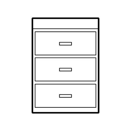 Cassa in legno di mobili idraulici moderno illustrazione vettoriale stile materiale Archivio Fotografico - 85783280