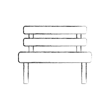 bench park rest comfort chair decoration vector illustration Ilustração
