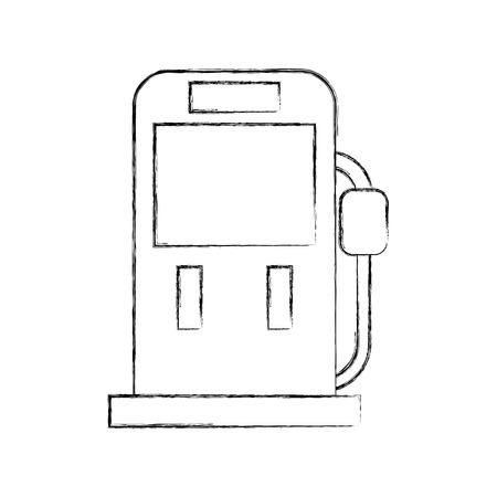 gasoline fuel pump filling station equipment icon vector illustration