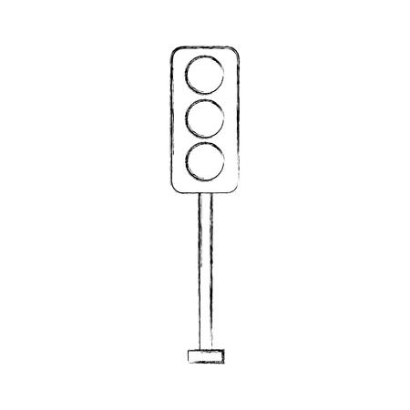 交通信号電気機器制御ベクトルイラスト
