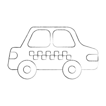 car isolated: cab car transport public service city vehicle vector illustration
