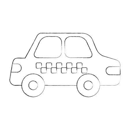 cab car transport public service city vehicle vector illustration