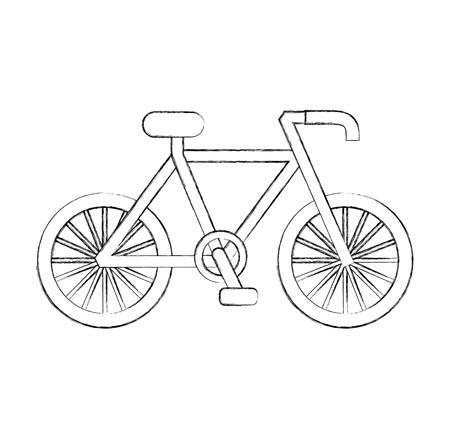 自転車輸送エコロジー車両伝統的なベクトル図