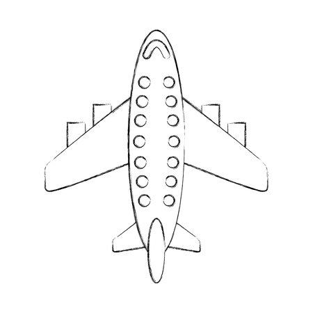 airplane transport commercial passenger business vector illustration Illusztráció