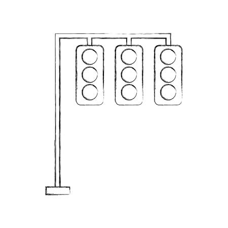 verkeerslichten elektrische apparatuur controle vector illustratie