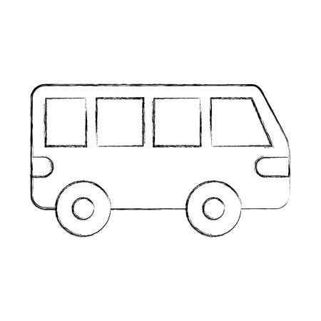 Van auto vervoer voertuig motor wiel vector illustratie Stockfoto - 85823196