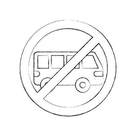 no car or no parking sign prohibit vector illustration