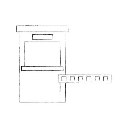 駐車場支払いステーションアクセス制御コンセプトベクトルイラスト