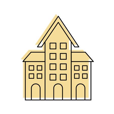 교회 건축 기독교 종교 아키텍처 벡터 일러스트 레이션