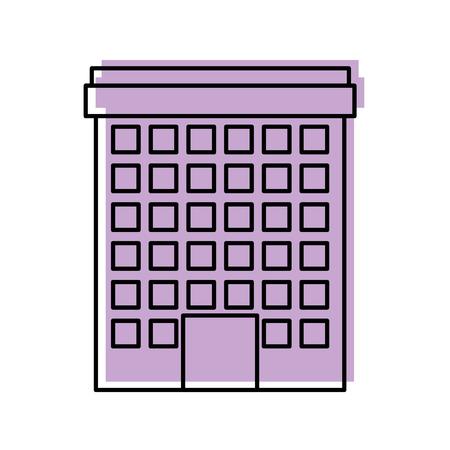 건물 부동산 비즈니스 또는 아파트 거주 벡터 일러스트 레이션