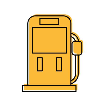 ガソリン燃料ポンプ充填ステーション機器アイコンベクトルイラスト  イラスト・ベクター素材