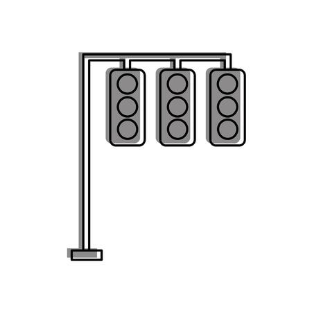 Illustrazione di vettore di controllo di attrezzature elettriche semafori Archivio Fotografico - 85823225