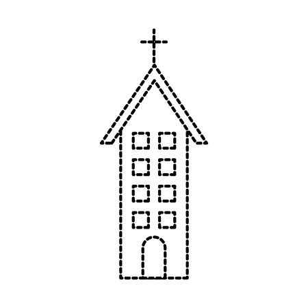 church building christian religion architecture vector illustration Ilustração