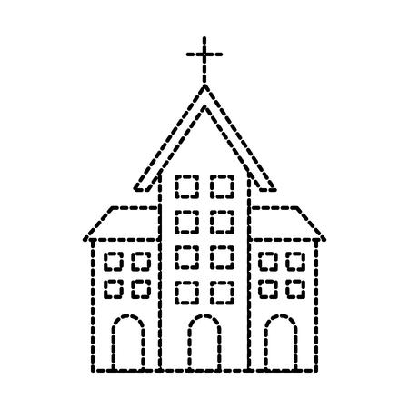 教会の建物キリスト教の宗教アーキテクチャベクターイラスト