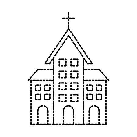 church building christian religion architecture vector illustration Illusztráció