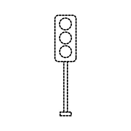 신호등 전기 장비 제어 벡터 일러스트 레이션