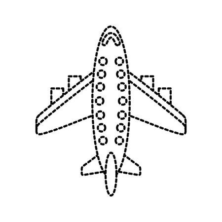 vliegtuig vervoer commerciële passagiers zakelijke vectorillustratie