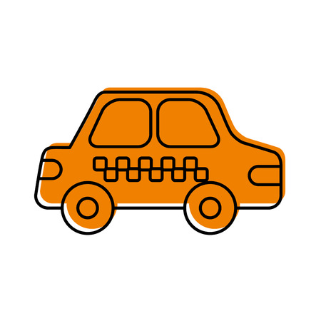 cab car transport public service city vehicle vector illustration
