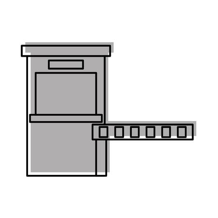 パーキング決済ステーションアクセスコントロールコンセプトベクトルイラスト  イラスト・ベクター素材