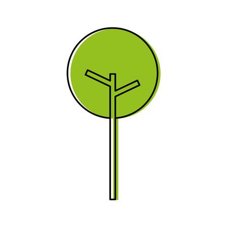 木の自然の葉公園植物ベクトルイラスト