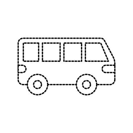 Van auto vervoer voertuig motor wiel vector illustratie Stock Illustratie