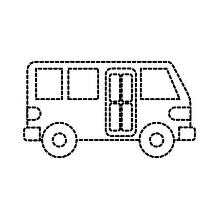 bus transport service public urban vehicle vector illustration