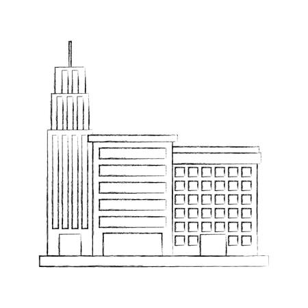 city building business property architecture modern vector illustration Illustration