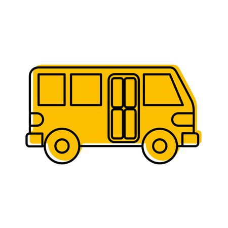 bus transport service public urban vehicle vector illustration