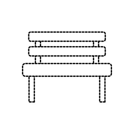 bench park rest comfort chair decoration vector illustration Illustration